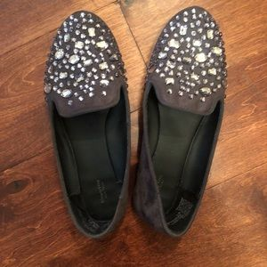 Simply Vera Studded Flat Loafers in Gray